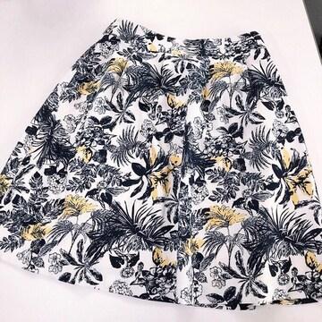 ◆Honeys/ハニーズ◆花柄スカート★ひざ丈スカートM*通勤オフィスコーデ♪美品