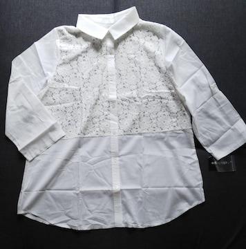 LL★clochette★胸元透けレースブラウス★大きいサイズ★送料無料