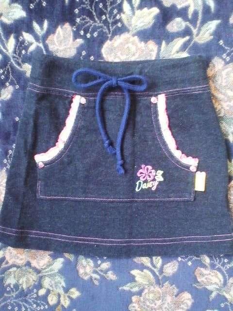 新品同様デイジーラバーズ黒スエット地スカート110  < ブランドの