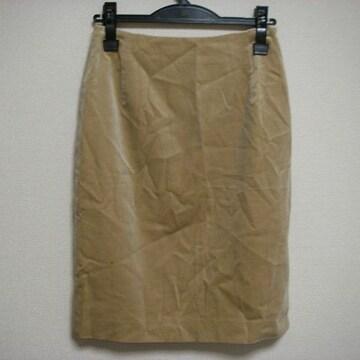 ミッシェルクラン 38 ベロア系!? 膝丈 スカート
