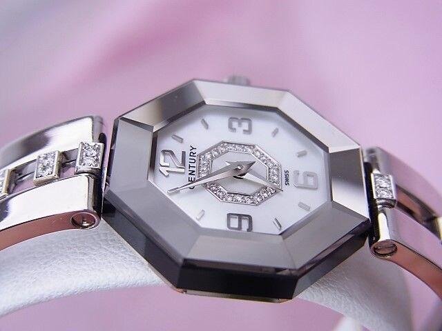 CENTURY センチュリー ダンシング ラッキーエイト K18WG 宝飾時計★dot < 女性アクセサリー/時計の