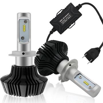 ヘッドライト LED H7 6500K 8000LM DC12-24V
