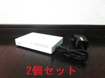 ★HUB バッファロー LSW4-TX-8EP 8ポート 2個セット