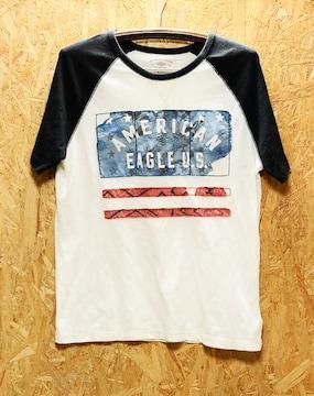 サイズM Tシャツ アメリカン イーグル ダメージ加工 & プリント