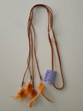 新品即決/claire's/三つ編みスエードヘアバンド/羽根フェザー