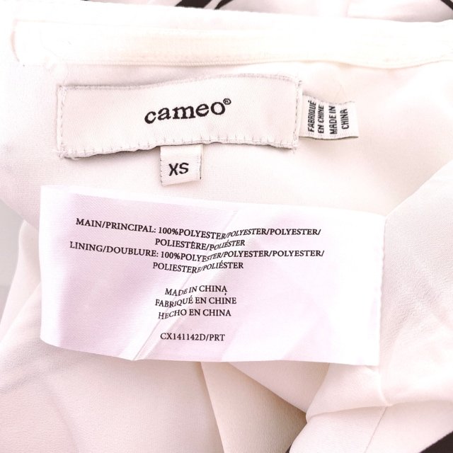 cameo黒白カメオフレアべアドレスワンピースパーティーボーダー < 女性ファッションの