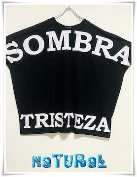 新作★大きいサイズ〜10L SOMBREロゴBigTシャツワンピ*黒