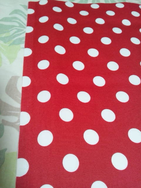 ☆赤×白ドット柄カットクロスはぎれ生地114×50 < ペット/手芸/園芸の