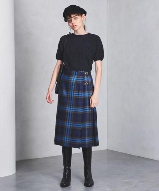 新品 オニールオブダブリン アコーディオン プリーツ スカート < ブランドの