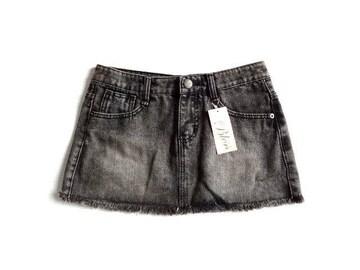 新品 定価4935円 BLESS TOKYO 黒 デニム ミニ スカート S
