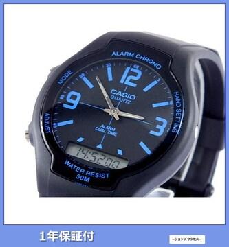 新品 即買■カシオ アナデジ 腕時計 AW-90H-2B//00001655