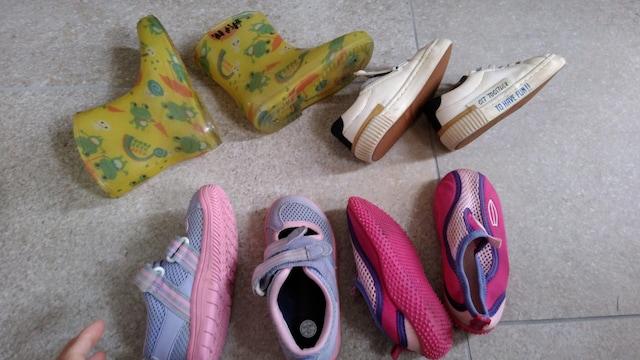 16センチ 靴 レインシューズ 女の子用 4点セット < キッズ/ベビーの