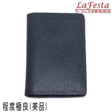 本物美品◆ヴィトン【タイガ】カードケースカード入れレザー濃紺