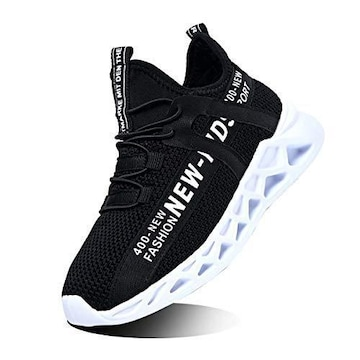 [WYSBAOSHU] スニーカー キッズ 子供靴 23.5 cm black