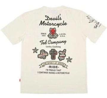 新品/テッドマン/フルデコ/Tシャツ/白/S/TDSS-406/エフ商会/カミナリ/東洋