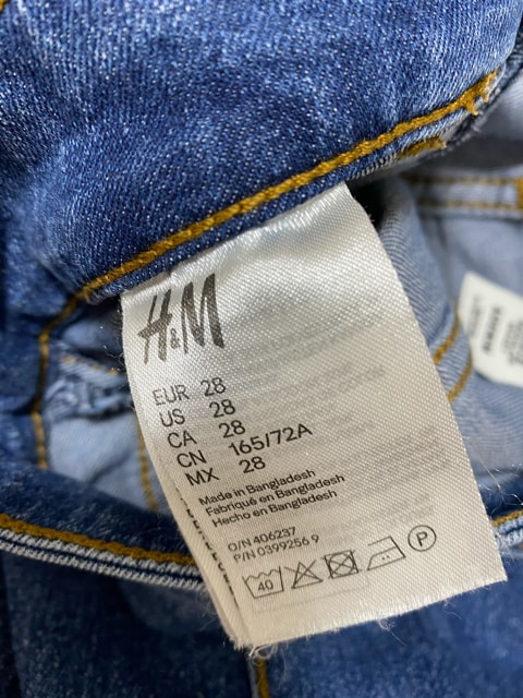 H&M デニムパンツ 28 < ブランドの