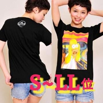 M~L位/グラニフ☆シンプソンズ,ムンクTシャツ