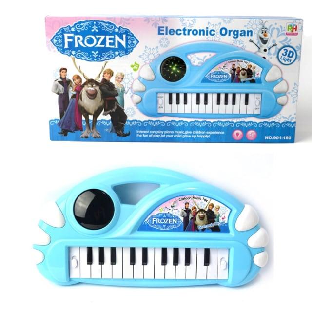 新品 日本未発売 アナと雪の女王 3D 光 キーボード  < おもちゃの