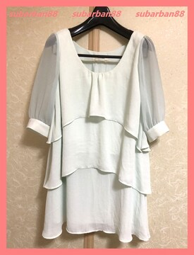 ☆スナイデル☆美品♪シフォンフリルチュニックワンピ☆