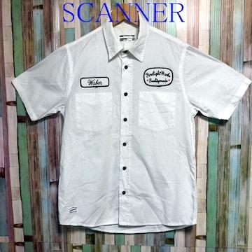 SCANNER 刺繍半袖シャツ