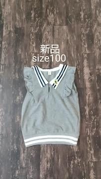 [新品]size100/ノースリーブ//
