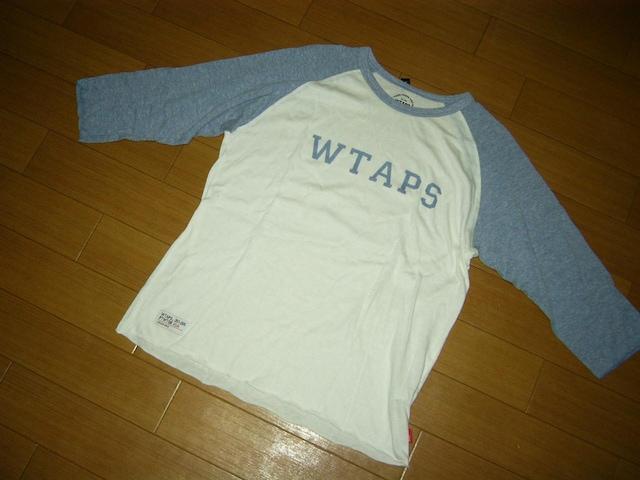 WTAPSダブルタップス7分丈ロンTシャツ2白ロゴカットソー < ブランドの