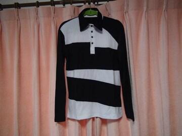 JUISHDENの白と黒のポロシャツ(L)!。
