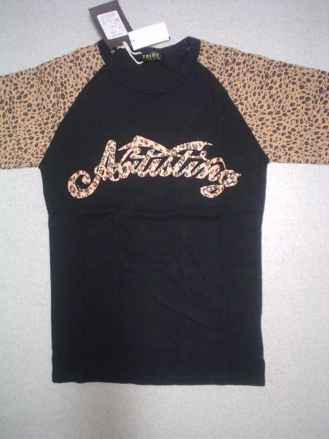在庫処分*新品激安*超お買い得!TRIXYのTシャツ・ラメ入・黒  < 男性ファッションの