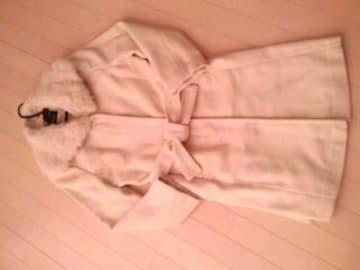★キレイ系★超カワラビファー付ロングコート★OWT★