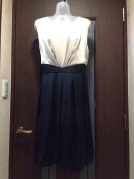 新品17号★フォーマルワンピ★黒レースえり付き/大きいサイズ