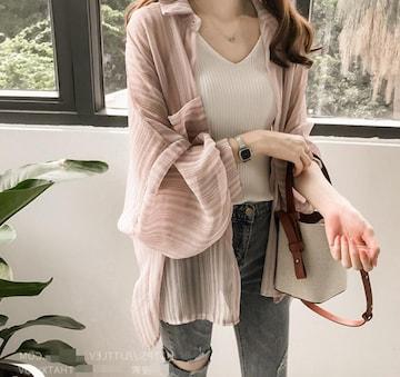 爆ヤス★UVケアトップス/日焼け止め 2020春夏新作ピンクL
