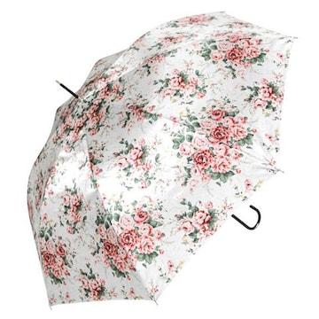 【ジャンプ傘】ローズアンブレラ ローズ・クリーム