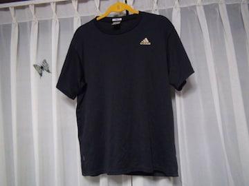 adidasのTシャツ(M)ブラック !。