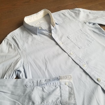 ★HARE製 シャツ サイズS ハレ メンズシャツ 爽やかなブルー