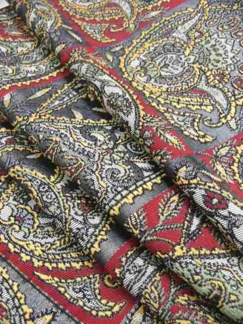 わけあり品 ペイズリー柄 西陣「じゅらく」謹製 正絹袋帯 < 女性ファッションの