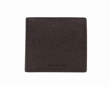 BVLGARI ブルガリ グレインレザー 二つ折り財布 ダークブラウン【送料無料】