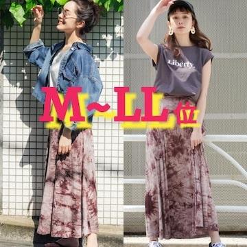 M~L¥1990/新品☆タイダイ柄ロングスカート227