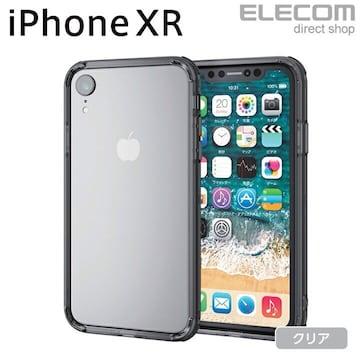 iPhone XR バンパー ケース PM-A18CHVBBK エレコム