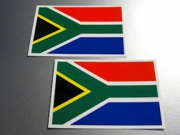 ■南アフリカ国旗ステッカー2枚セット■スーツケースなどに