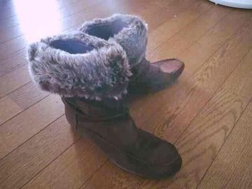 美品 ファー ショート ブーツ