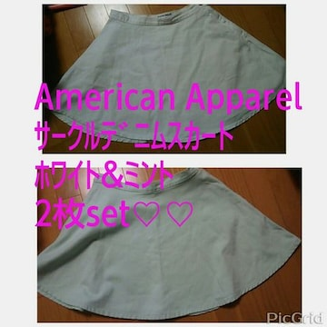 ☆American Apparel サークルデニムスカート2枚set☆