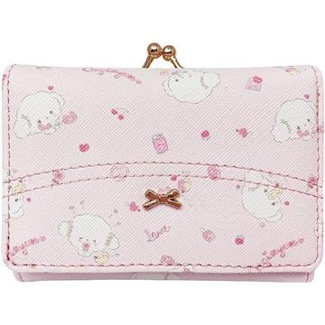 こぎみゅん★ミニ口金財布(がまぐち)三つ折り財布(ピンク)