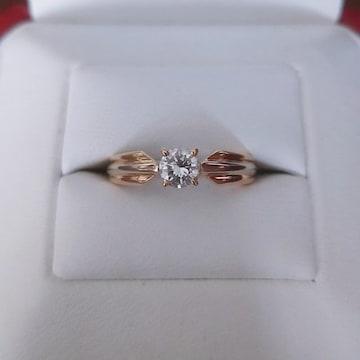 カルティエ スリーカラー ダイヤモンド リング K18 0.31ct VVS-1