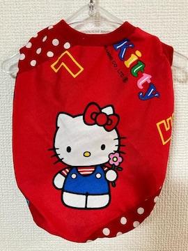 M★レトロキティちゃん シャツ 赤 ドット 犬服★
