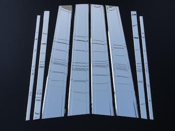 クロームメッキ鏡面ステンレスピラー ランクル 200系