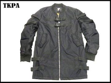 新 TKPA ジップアップロングジャケット (L)黒