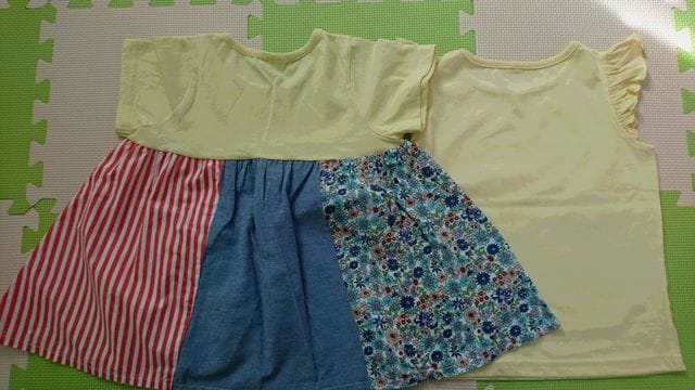 120女の子夏チュニック&袖なしTシャツ < キッズ/ベビーの