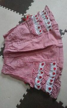 130 可愛いスカート 美品 さくらんぼ