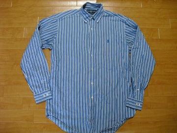 ポロ ラルフローレン ストライプ BDシャツ USA-M