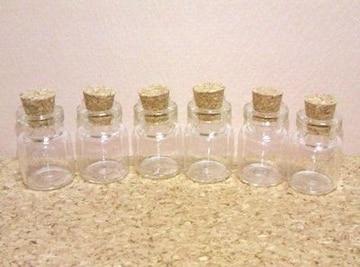 ミニガラス瓶15個コルク栓